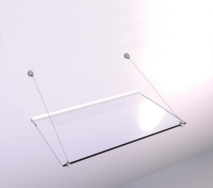 Glass Shelf - 40x120cm - Plasterboard/All Surface Bracket