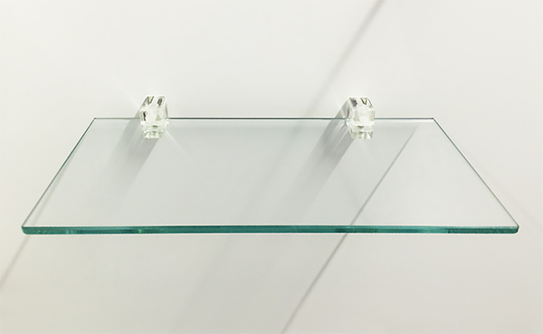 Glass Shelf with Transparent Shelf Supports