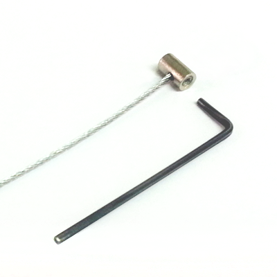 "Barrel Anchor + Steel 1.5mm Cable 1.5m (4ft 11"")"