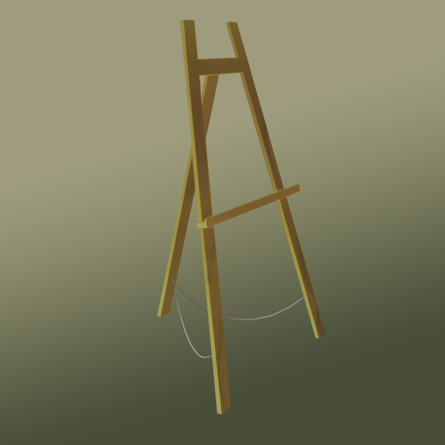 The 'Big' 160 Easel Natural Wood