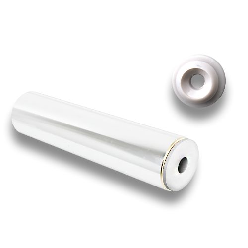Brass Rod Rail end-piece, white