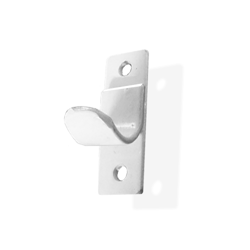 Brass Rod Rail Support, white