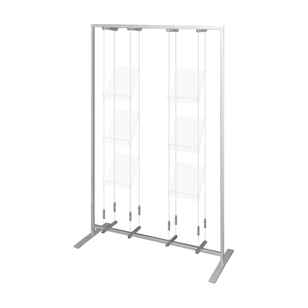 Brochure Display Rack, Complete <b>Hire / Rental</b>