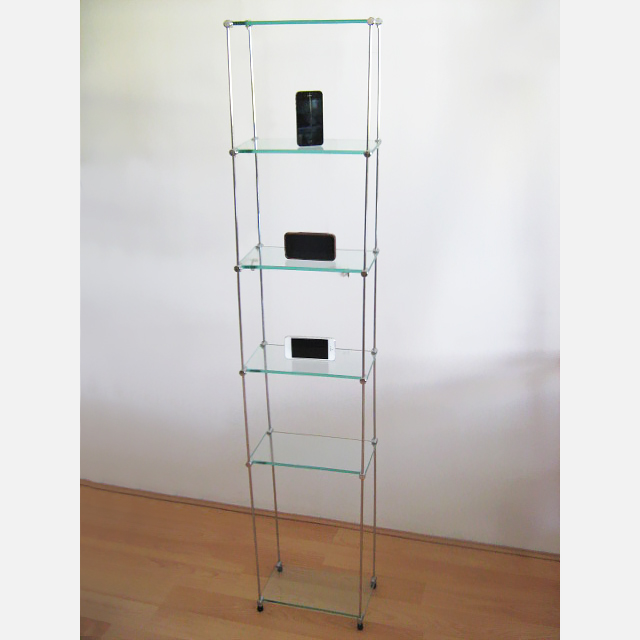 Cd/Dvd Free-standing Glass Unit, 15 x 30 (x6)
