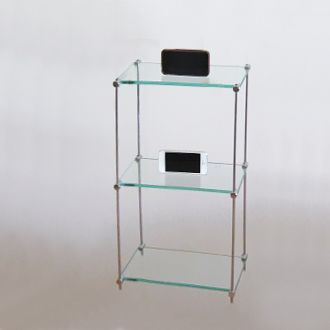 Cd/Dvd Free-standing Glass Unit, 15 x 30 (x3)