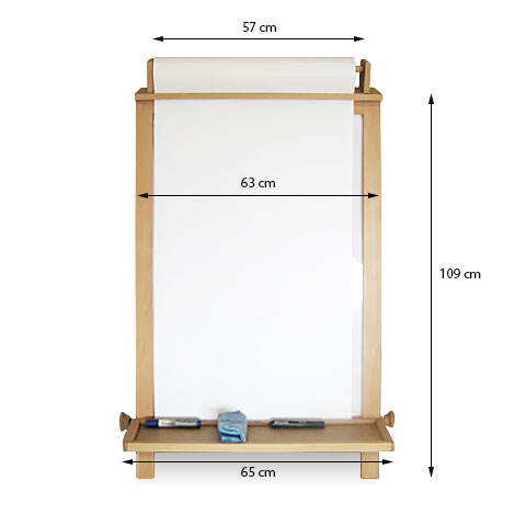 Children / Kid's 'Paper Roll' Easel - Measurements