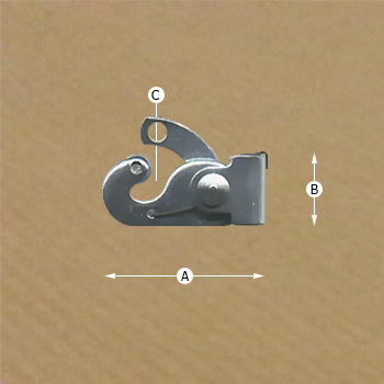 Classic 40kg Security Hook, Dimensions