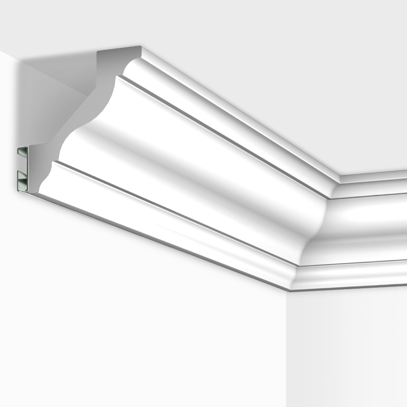 White Kitchen Cornice