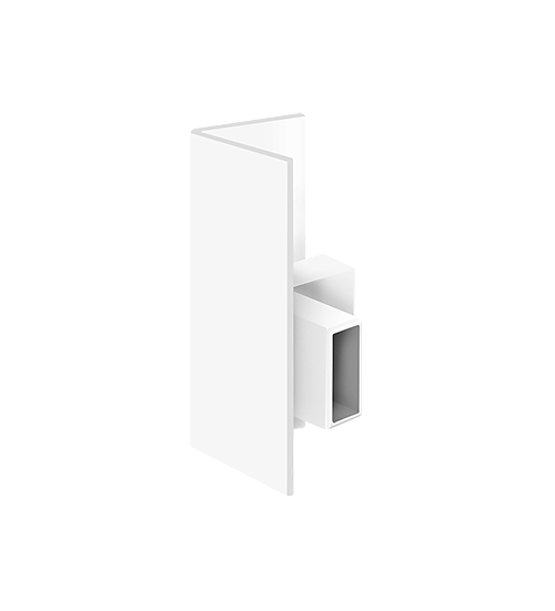 Clip Rail Max Heavy Duty, Corner-connector White