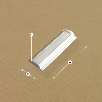 Clip  Rail Smart Straight Connector, Dimensions