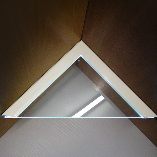 Glass Corner 'Light' Shelf