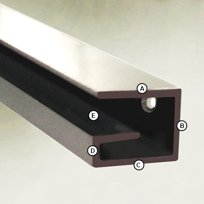 Glass Shelf 10mm Bracket Dimensions