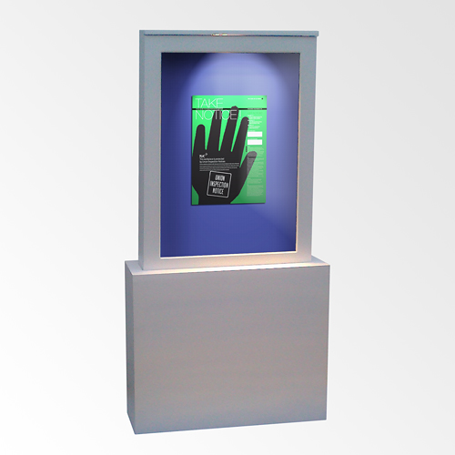 "Free Standing ""Light"" Display Box, A0"