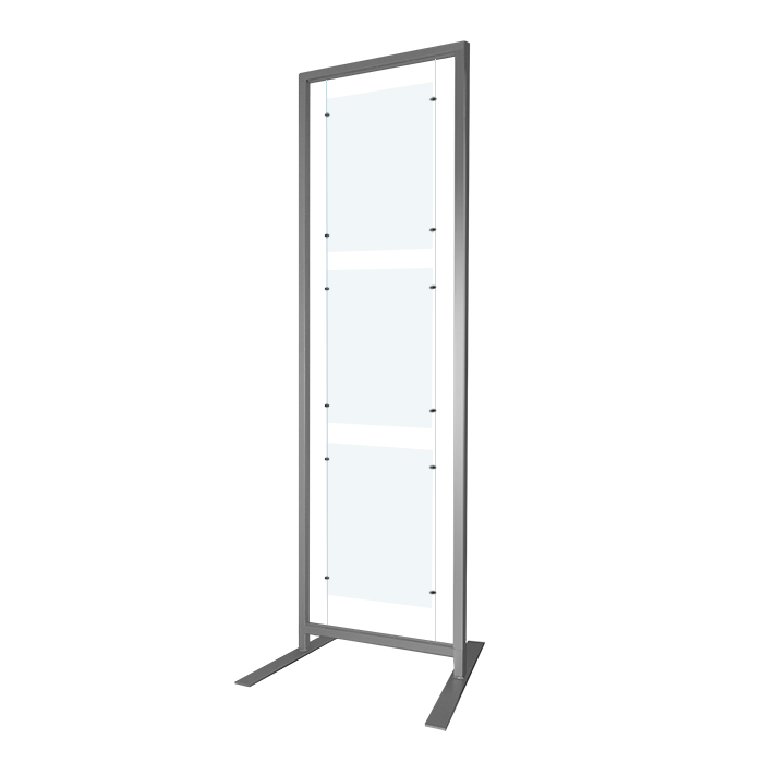 NEW* Free Standing Display Rack 200x60cm +A2 Panel Kit