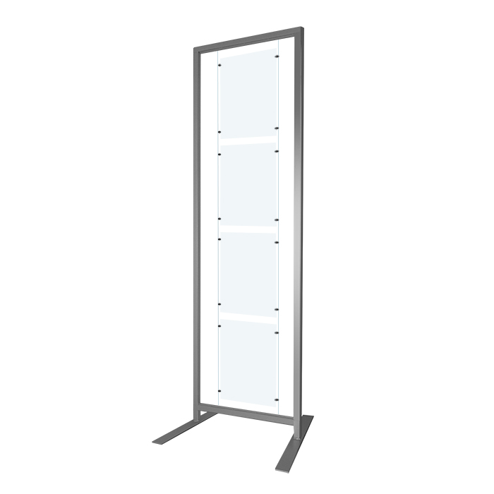 NEW* Free Standing Display Rack 200x60cm +A3 Panel Kit