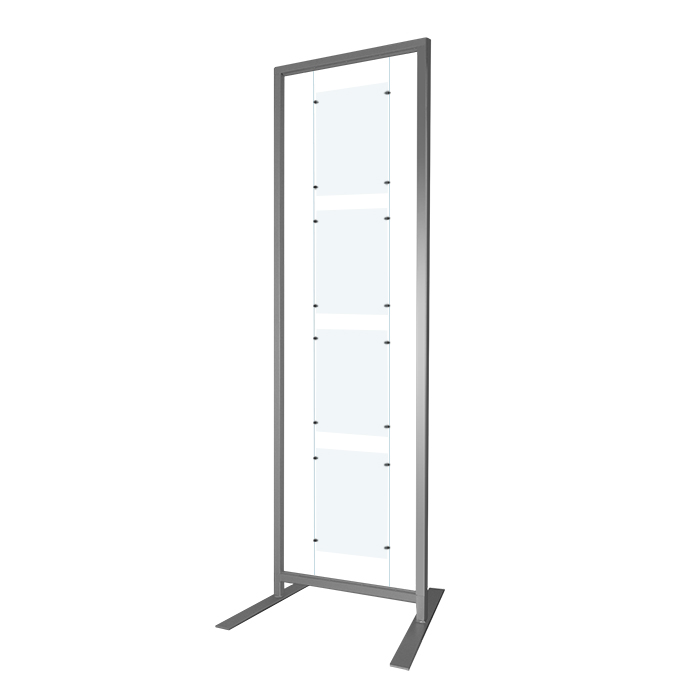 NEW* Free Standing Display Rack 200x60cm +A4 Panel Kit