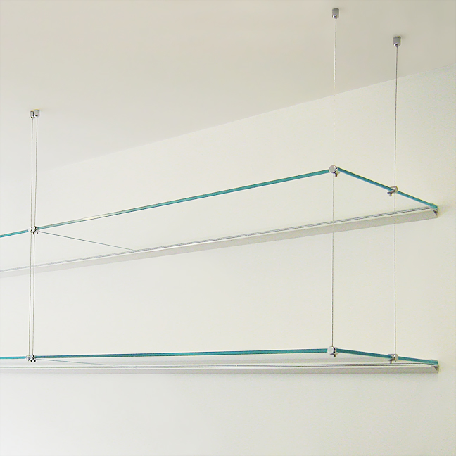 Office/Book Shelf, 30x100 Glass (x2)
