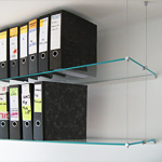 Glass Office Shelf, All Surfaces