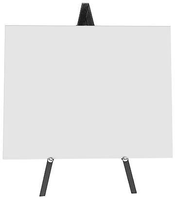 Greco Easel Metal, black, 60cm - With Board