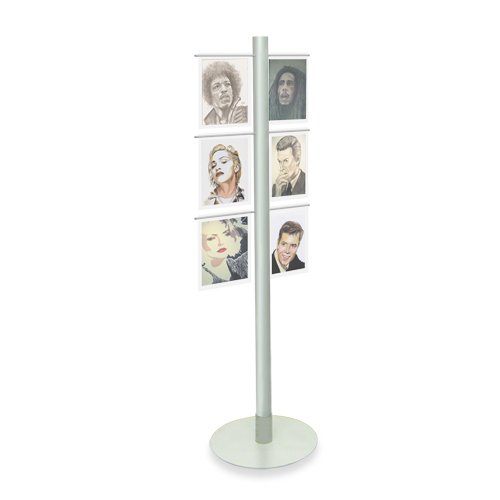 (A4) Acrylic Display Stand - Metal