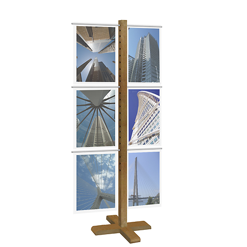 (A3) Acrylic Display Stand - Wood