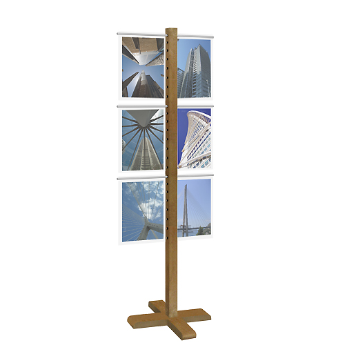 (A4) Acrylic Display Stand - Wood