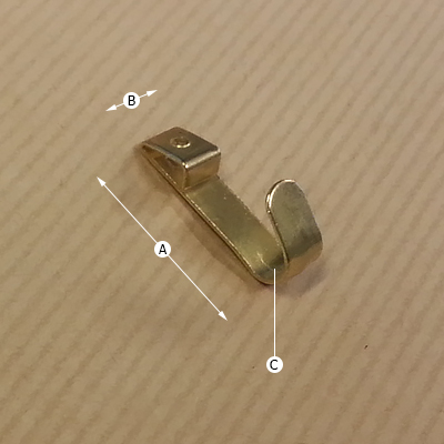 Picture Hook Single, Dimensions
