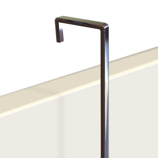"Hanging Rod, 4mm screen plain steel 1m (3ft 3"")"