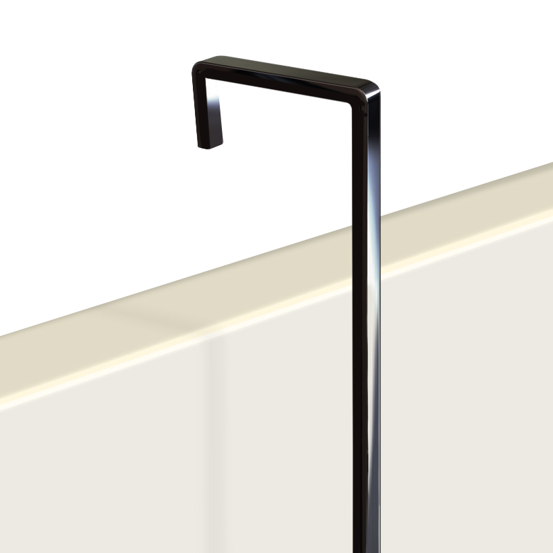 "Hanging Rod, 4mm screen black 0.5m (1ft 7"")"