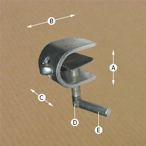Rug / Carpet Clamp Dimensions