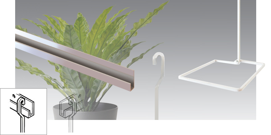 Plant Hanging on Aluminium Rail / Track (Rods)