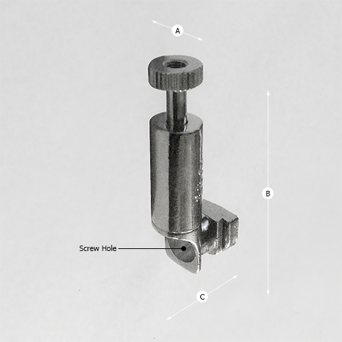 Security Screw Hook 15kg (33lbs) Dimensions