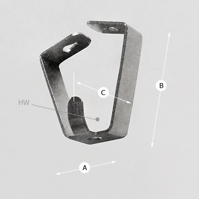 Smart Spring Hook 4kg (8lbs) Dimensions