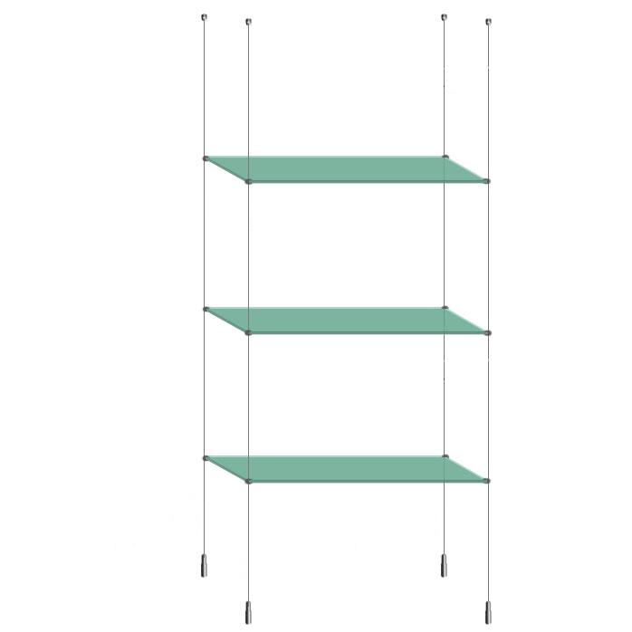 art estuff com suspended ceiling to floor glass shelf unit. Black Bedroom Furniture Sets. Home Design Ideas