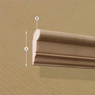 Traditional Wood Rail/Moulding, Dimensions