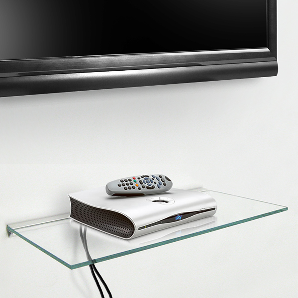 Floating 'Max' Glass Shelf