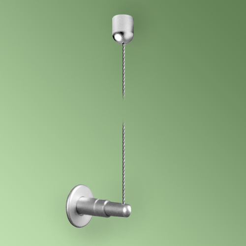 Ceiling to Wall Fittings, with 3m Cable