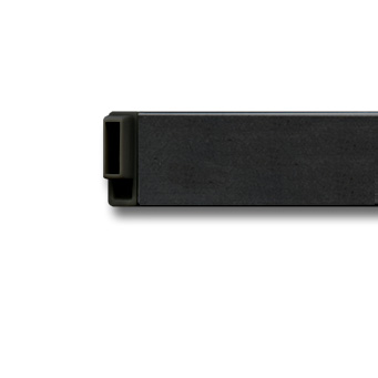 Clip Rail, corner connector black