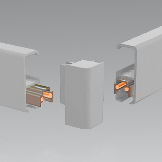Clip-Rail Lighting, Corner-Connector Silver