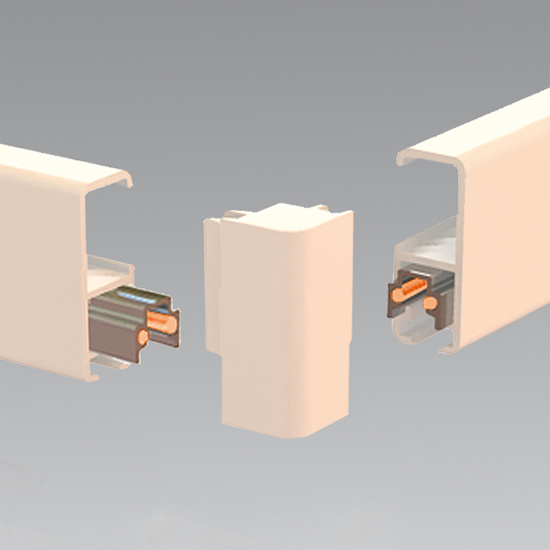 Clip-Rail Lighting, Corner-Connector White