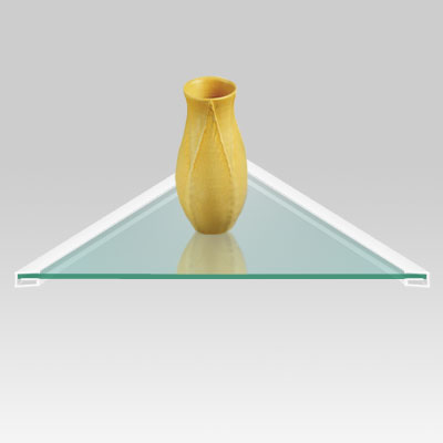Glass Corner Shelf, 10mm Flat-edge