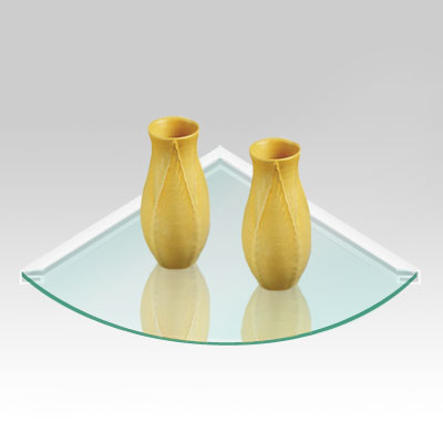 Glass Corner Shelf, 6mm Round-edge