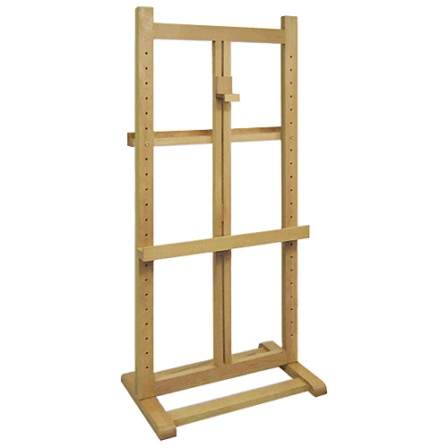 Upright Easel 180cm, Light Wood, White, Black, Silver