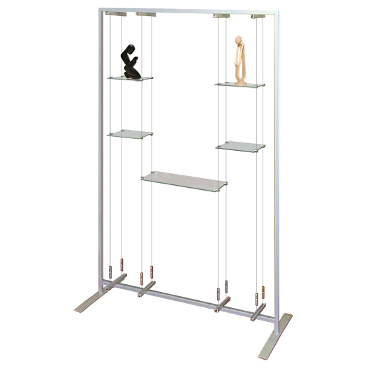 Free Standing Glass Shelf Unit