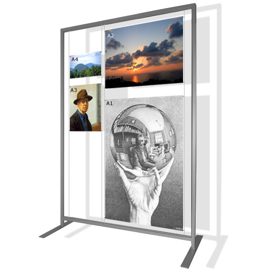 Free Standing Display Rack 2m
