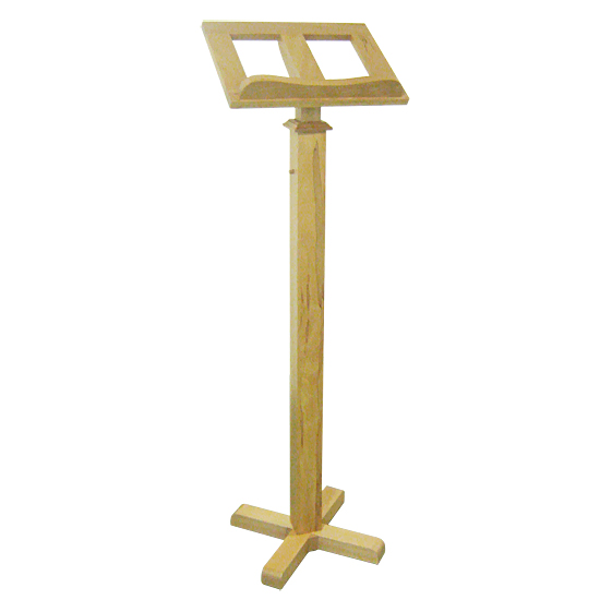 Free-standing lectern Light Wood, White, Black, Silver