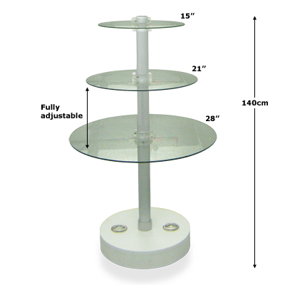 Free-Standing Shelf Unit, Light Base - Dimensions