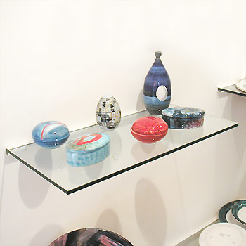 Glass Shelf, 10mm thick, 30x100cm (including bracket)