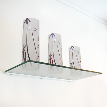 Glass Shelf, 10mm thick, 30x150cm (including bracket)