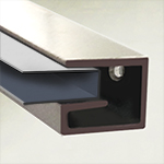Glass Shelf Bracket, Plastic Insert